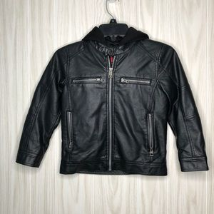Guess Faux Leather Boys Jacket size 6